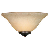 Golden Lighting Signature 1 Light Wall Sconce in Rubbed Bronze with Tea Stone Glass 8355-RBZ