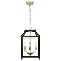 Leighton 3 Light 12 inch Satin Brass Pendant Ceiling Light