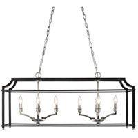 Leighton 8 Light 39 inch Pewter Linear Pendant Ceiling Light