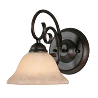 Golden Lighting Homestead 1 Light Wall Sconce in Rubbed Bronze 8606-BA1-RBZ-TEA