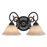 Golden Lighting Homestead 2 Light Bath Vanity in Rubbed Bronze 8606-BA2-RBZ-TEA