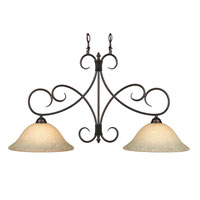 Golden Lighting Homestead 2 Light Island Light in Rubbed Bronze 8606-10-RBZ-TEA