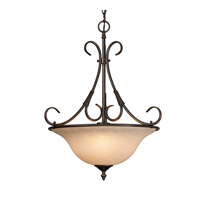 Golden Lighting Homestead 3 Light Pendant in Rubbed Bronze 8606-3P-RBZ-TEA