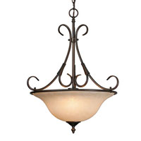Golden Lighting Homestead 3 Light Bowl Pendant in Rubbed Bronze 8606-3P-RBZ-TEA
