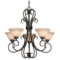 Golden Lighting 8606-5-RBZ-TEA Homestead 5 Light 28 inch Rubbed Bronze Chandelier Ceiling Light in Tea Stone Glass