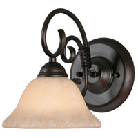 Golden Lighting Homestead 1 Light Bath Vanity in Rubbed Bronze 8606-BA1-RBZ-TEA