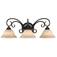 Homestead 3 Light 24 inch Rubbed Bronze Bath Vanity Wall Light in Tea Stone Glass
