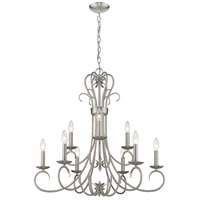 Golden Lighting 8606-CN9-PW Homestead 9 Light 28 inch Pewter Chandelier Ceiling Light