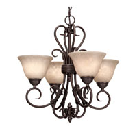 Homestead 4 Light 19 inch Rubbed Bronze Mini Chandelier Ceiling Light in Tea Stone Glass