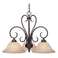 Golden Lighting Homestead 3 Light Chandelier in Rubbed Bronze 8606-ND3-RBZ-TEA