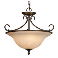 Golden Lighting Homestead 3 Light Convertible Semi-Flush in Rubbed Bronze 8606-SF-RBZ-TEA