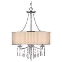 Echelon 3 Light 21 inch Chrome Pendant Ceiling Light in Bridal Veil Shade
