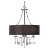 Echelon 3 Light 21 inch Chrome Pendant Ceiling Light in Tuxedo Shade