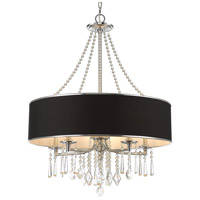 Golden Lighting 8981-5-GRM Echelon 5 Light 26 inch Chrome Chandelier Ceiling Light in Tuxedo Shade