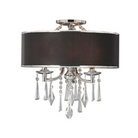 Golden Lighting Echelon 3 Light Semi-Flush in Chrome with Tuxedo Shade 8981-SF-GRM