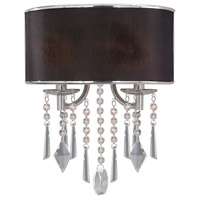 Golden Lighting Echelon 2 Light Wall Sconce in Chrome with Tuxedo Shade 8981-WSC-GRM