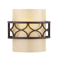 Golden Lighting Cercado 1 Light Sconce in Corsini Bronze 9018-1W-COB photo thumbnail