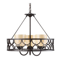 Golden Lighting Cercado 3 Light Mini Chandelier in Corsini Bronze 9018-3P-COB photo thumbnail