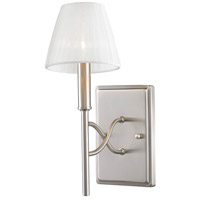 Golden Lighting 9106-1W-PW-PCS Taylor 1 Light 5 inch Pewter Wall Sconce Wall Light in Pearl Chiffon