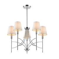 Golden Lighting Taylor 5 Light Chandelier in Chrome with Opal Shade 9106-5-CH-OPL