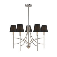 Golden Lighting Taylor 5 Light Chandelier in Pewter with Groom Shade 9106-5-PW-GRM