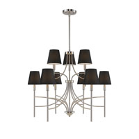 Golden Lighting Taylor 9 Light Chandelier in Pewter with Groom Shade 9106-9-PW-GRM