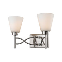 Golden Lighting Taylor 2 Light Bath Fixture in Pewter with Opal Shade 9106-BA2-PW alternative photo thumbnail