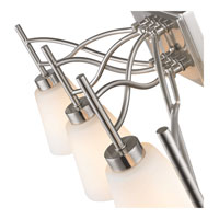 Golden Lighting Taylor 4 Light Bath Fixture in Pewter with Opal Shade 9106-BA4-PW alternative photo thumbnail
