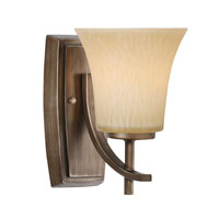 Golden Lighting Loraine 1 Light Sconce in Silvered Taupe 9114-BA1-ST photo thumbnail