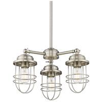 Golden Lighting 9808-3-PW Seaport 3 Light 16 inch Pewter Mini Chandelier Ceiling Light