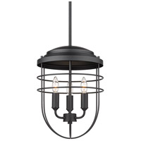 Golden Lighting 9808-3P BLK Seaport 3 Light 12 inch Matte Black Pendant Ceiling Light