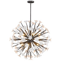 Posy 10 Light 32 inch Dark Natural Iron Pendant Ceiling Light