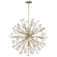 Posy 10 Light 32 inch White Gold Pendant Ceiling Light