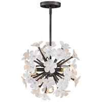 Posy 4 Light 16 inch Dark Natural Iron Pendant Ceiling Light