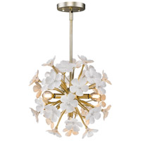 Posy 4 Light 16 inch White Gold Pendant Ceiling Light