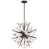 Posy 8 Light 23 inch Dark Natural Iron Pendant Ceiling Light