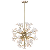 Posy 8 Light 23 inch White Gold Pendant Ceiling Light