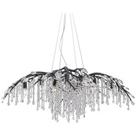 Golden Lighting 9903-12 BI Autumn Twilight 12 Light 40 inch Black Iron Chandelier Ceiling Light Large