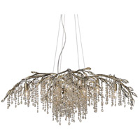 Autumn Twilight 12 Light 40 inch Mystic Gold Chandelier Ceiling Light in Amber Tinted Leaded Crystal
