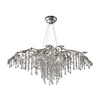 Autumn Twilight 12 Light 40 inch Mystic Silver Chandelier Ceiling Light in Electroplated Smoke Leaded Crystal