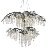 Golden Lighting 9903-18 BI Autumn Twilight 31 inch Black Iron Chandelier Ceiling Light