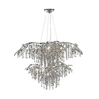 Autumn Twilight 18 Light 40 inch Mystic Silver Chandelier Ceiling Light in Electroplated Smoke Leaded Crystal