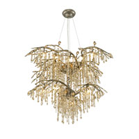 Autumn Twilight 18 Light 40 inch Mystic Gold Chandelier Ceiling Light in Amber Tinted Leaded Crystal