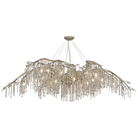 Autumn Twilight 24 Light 78 inch Mystic Gold Chandelier Ceiling Light in Amber Tinted Leaded Crystal