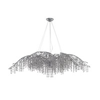 Golden Lighting 9903-24-MSI Autumn Twilight 24 Light 78 inch Mystic Silver Chandelier Ceiling Light in Smoke Tinted Leaded Crystal
