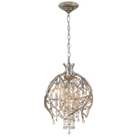 Autumn Twilight 3 Light 13 inch Mystic Gold Pendant Ceiling Light in Amber Tinted Leaded Crystal