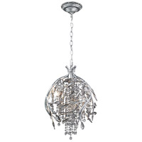 Autumn Twilight 3 Light 13 inch Mystic Silver Pendant Ceiling Light in Smoke Tinted Leaded Crystal