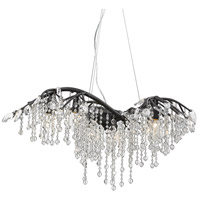 Golden Lighting 9903-6 BI Autumn Twilight 6 Light 31 inch Black Iron Chandelier Ceiling Light Large