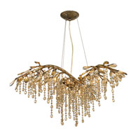 Golden Lighting 9903-6-MG Autumn Twilight 6 Light 31 inch Mystic Gold Chandelier Ceiling Light in Amber Tinted Leaded Crystal alternative photo thumbnail