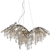 Autumn Twilight 6 Light 31 inch Mystic Gold Chandelier Ceiling Light in Amber Tinted Leaded Crystal